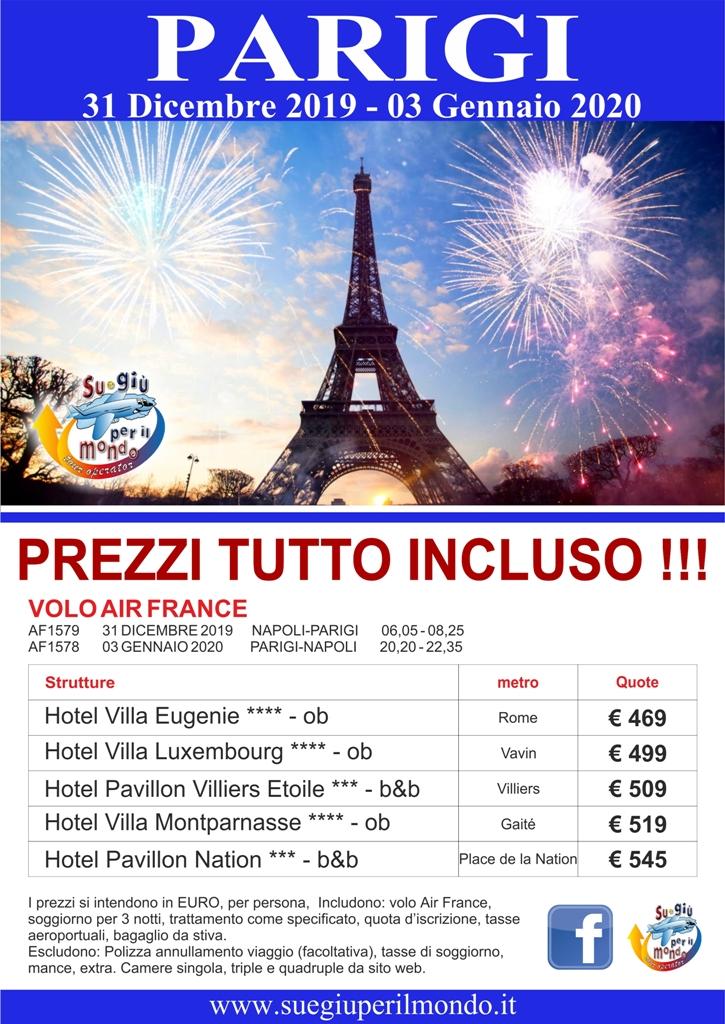 PARIGI > 31 DICEMBRE - 3 GENNAIO 2020